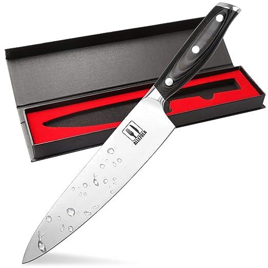 Allezola Cuchillo de chef profesional, cuchillo de cocina ...