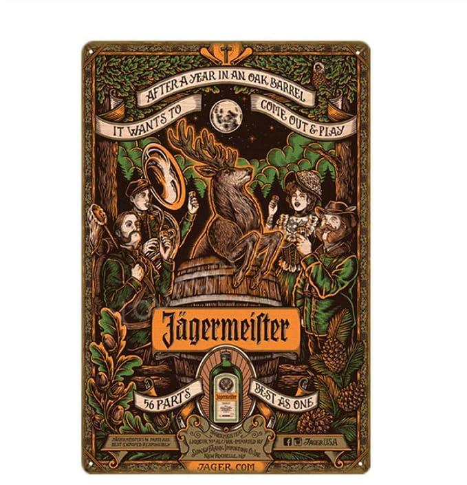 Segno Di Latta Metallo Decorazione Poster Plaque Alcohol ...