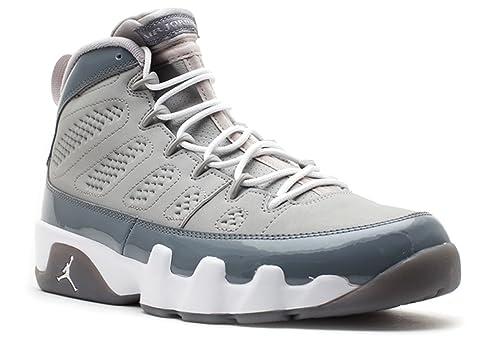 19ada2887eb8 Nike Mens Air Jordan 9 Retro  quot Cool Grey quot  Medium Grey White Leather