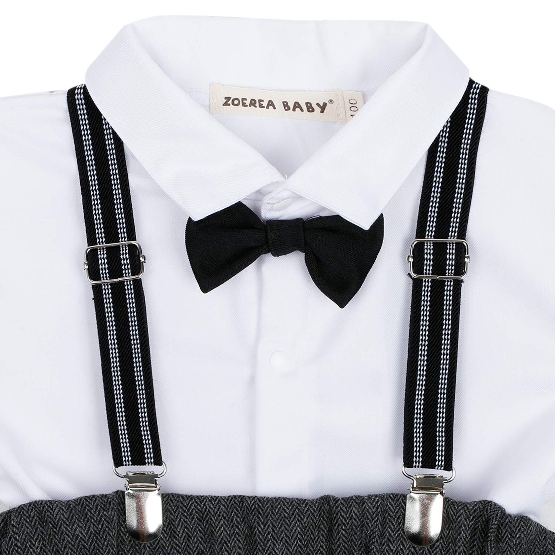 Chaqueta de la Boina Caballeros Boda Bautizo Conjuntos de Ropa ZOEREA Beb/é Chicos Conjunto de Conjunto Page Boy Trajes 4 Piezas Chaleco Camisa Pantalones