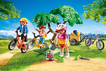 PLAYMOBIL Freizeit Bicicleta de montaña, Multicolor: Amazon.es ...