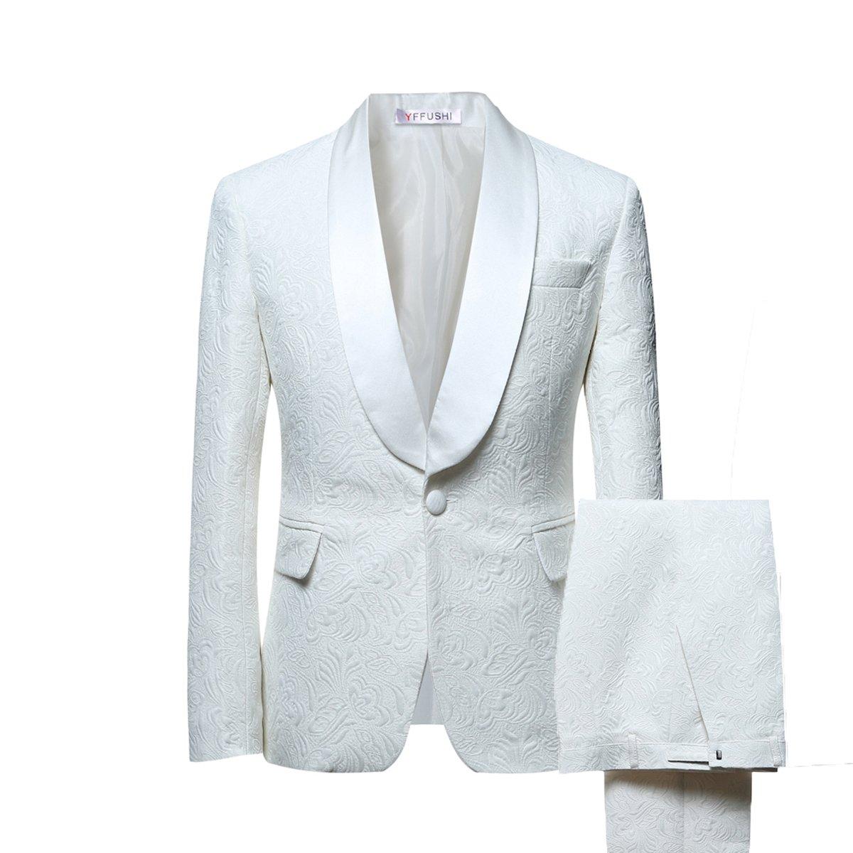 Amazon.com: YFFUSHI - Vestido para hombre, 1 botón, 2 piezas ...