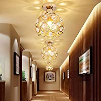 ALLOMN Nowoczesna lampa sufitowa, kryształowa lampa sufitowa do sypialni, korytarza, salonu, lampa sufitowa E27…