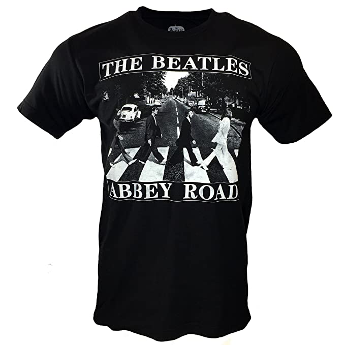 The Beatles Mens T Shirt Abbey Road In Black White Small At