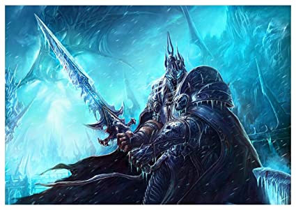 Poster Arthas Menethil Lich King World Of Warcraft A3