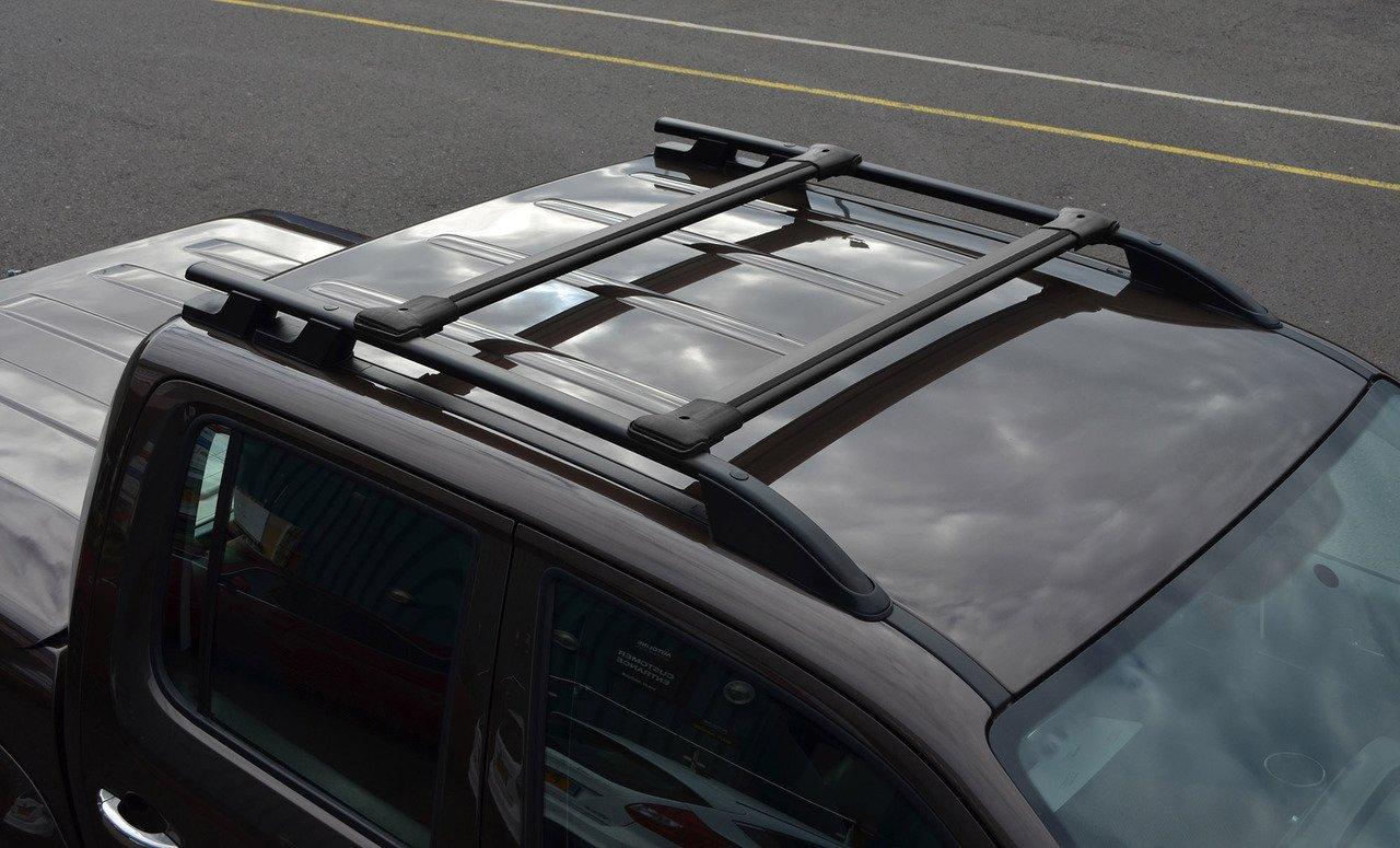 2010/+ Alvm ricambi e accessori nero Cross bar rail set to fit barre portapacchi Side to fit Amarok
