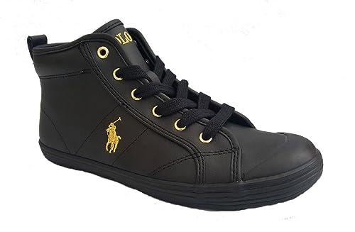 Polo Ralph Lauren - Zapatillas Altas Mujer, Color Negro, Talla 39.5: Amazon.es: Zapatos y complementos