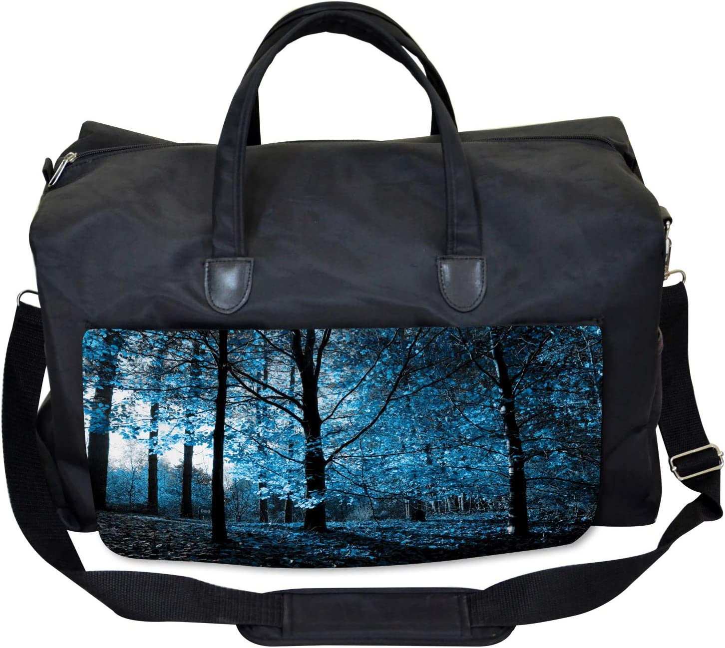 Large Weekender Carry-on Autumn Woodland Artful Ambesonne Forest Gym Bag