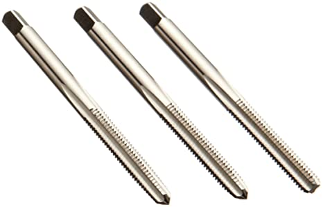 UNC Finish Uncoated Round Shank with Square End Taper Chamfer H1 Tolerance Bright Union Butterfield 1528 3 Flute High-Speed Steel Hand Tap 4-40 Thread Size