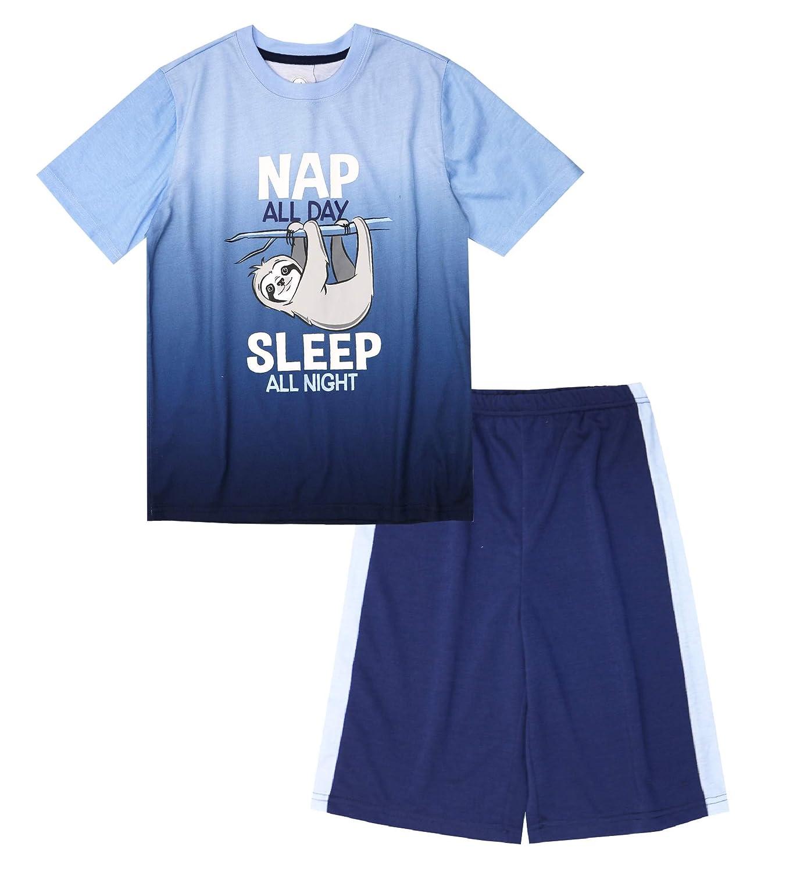 Boys Sloth Nap All Day Sleep All Night 2 Piece Pajama Set