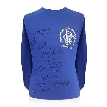 Camiseta de fútbol de los Rangers firmada por el escuadrón de 1972