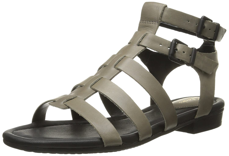Clarks Women's Viveca Myth Gladiator Sandal, Sage Leather, 12 M US:  Amazon.co.uk: Shoes & Bags
