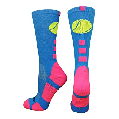 MadSportsStuff Tennis Logo Athletic Crew Socks (multiple colors)