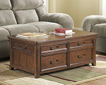 Amazon Com Ashley Furniture Wooden Lift Top Living Room Cocktail