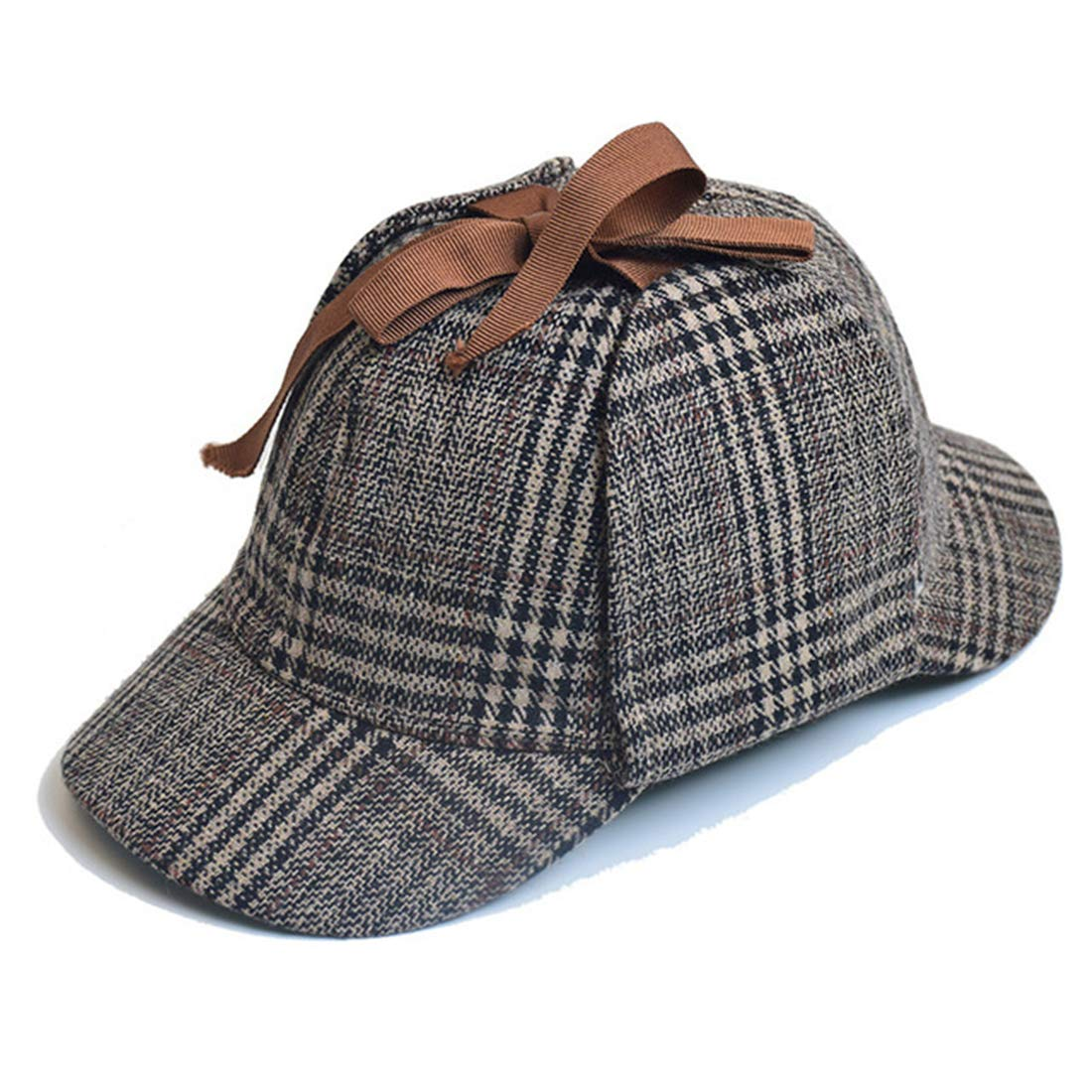 Unisex Sherlock Holmes Hat Detective Hat Deerstalker Hat for Adults & Kids