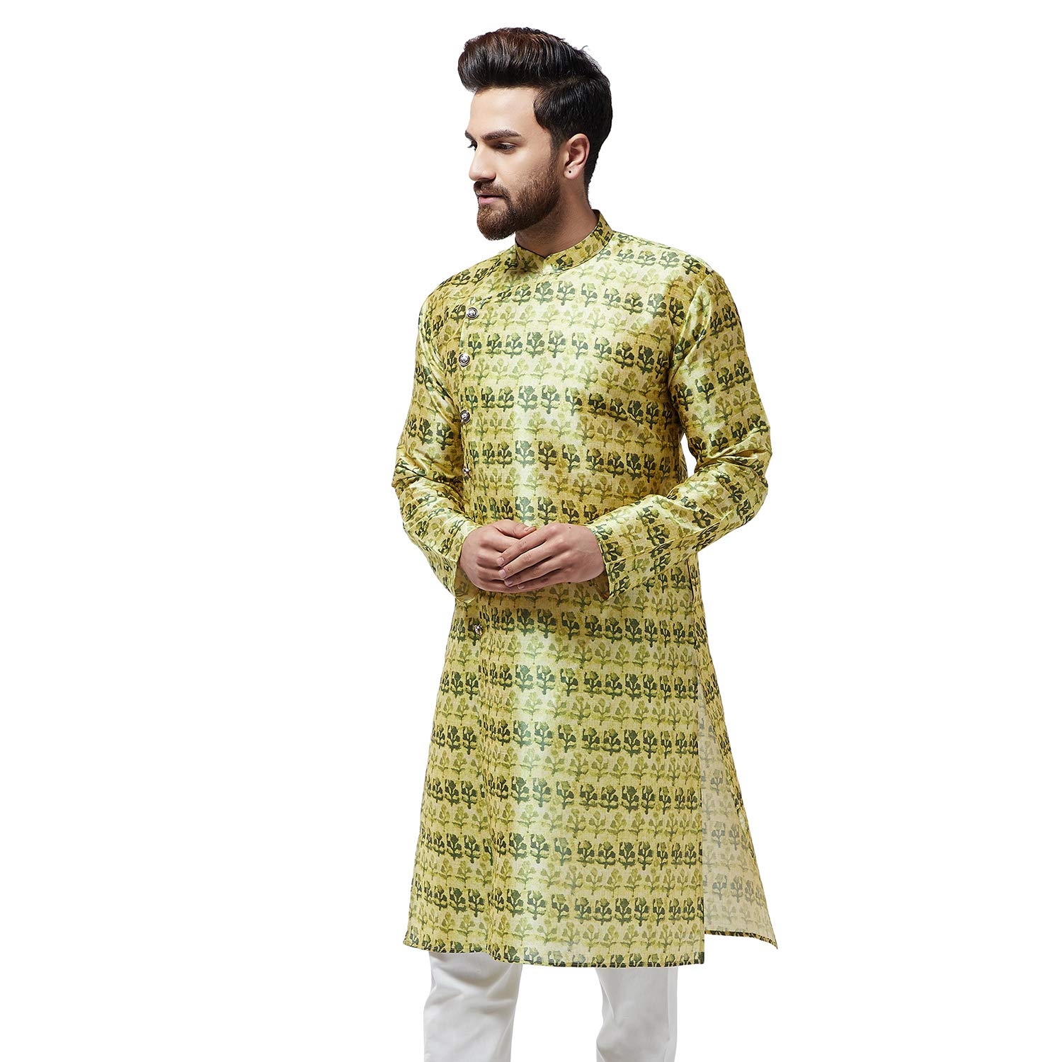 Festival-Men-Dupion-Silk-Kurta-Pajama-Ethnic-Party-Wear-Bollywood-Dress-Pyjama thumbnail 21