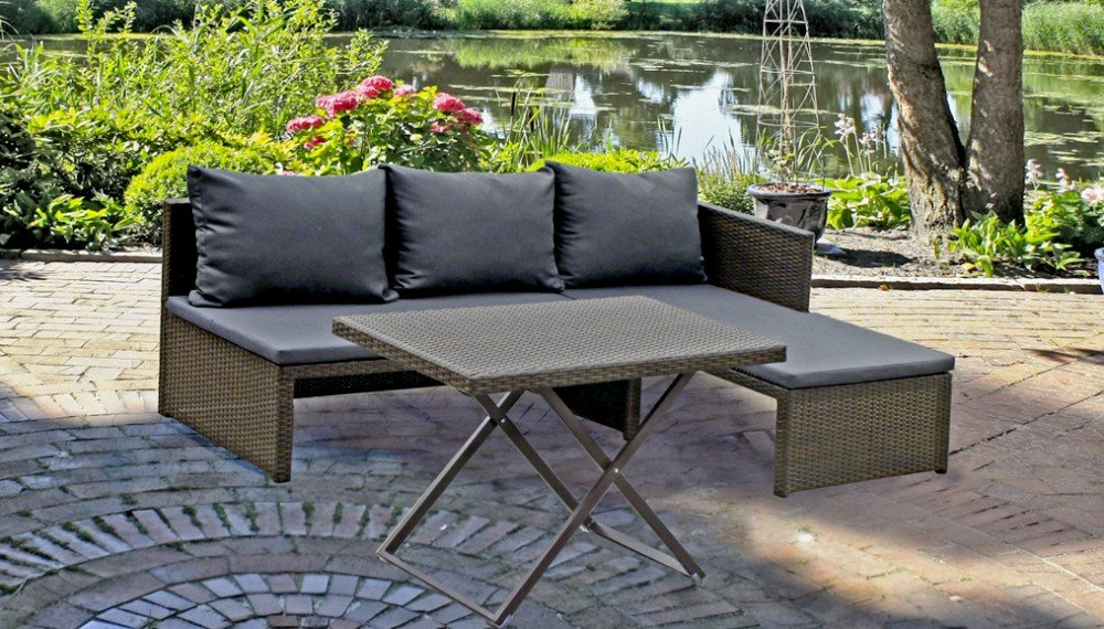 garten sofa set lounge sitzgruppe terrasse m bel rattan. Black Bedroom Furniture Sets. Home Design Ideas