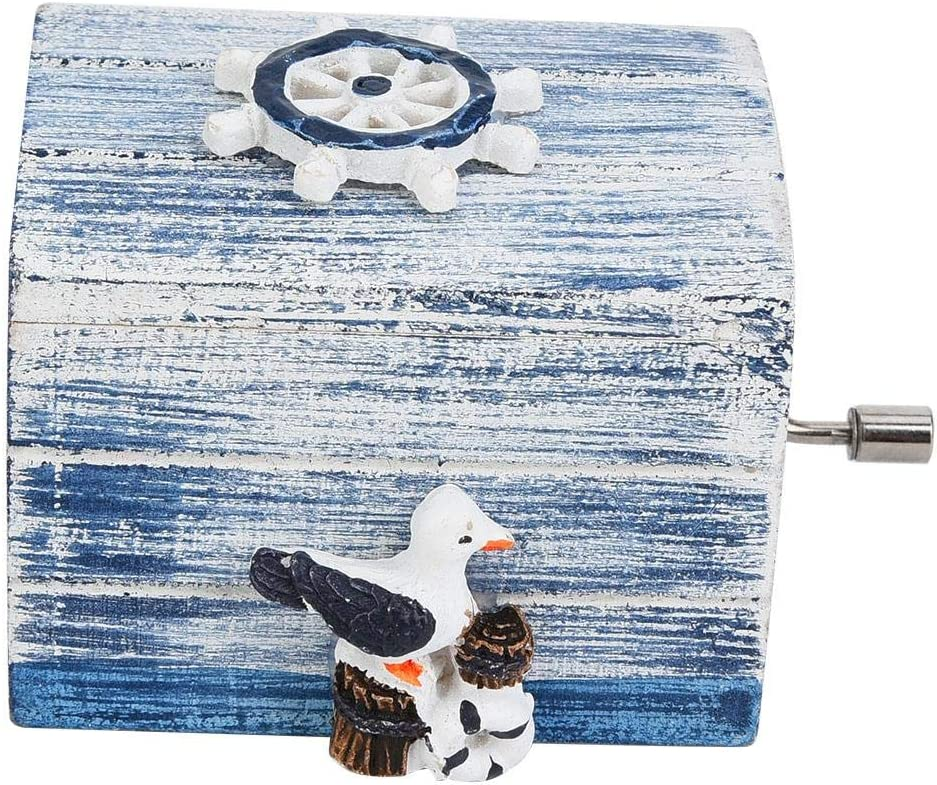 Novia En Navidad//Cumplea/ñOs//San Valent/ín Bird + Helmsman Caja De M/úsica Mediterranean Cajas/De/Musica/Manivela Caja De Madera De Musica Regalo para Mini Musik Box Regalo Musical para Ni/ños