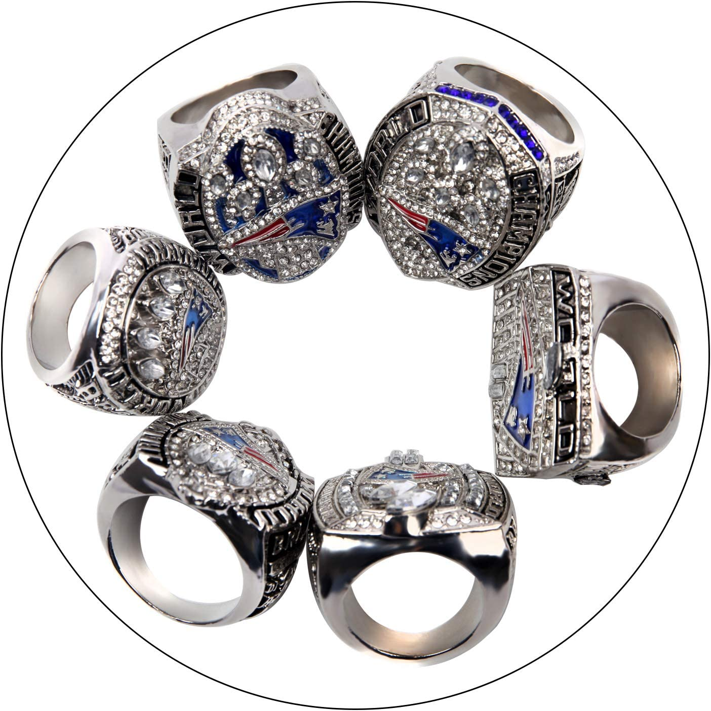 HASTTHOU Replica Championship Ring for New England Patriots Gift Fashion Ring Set