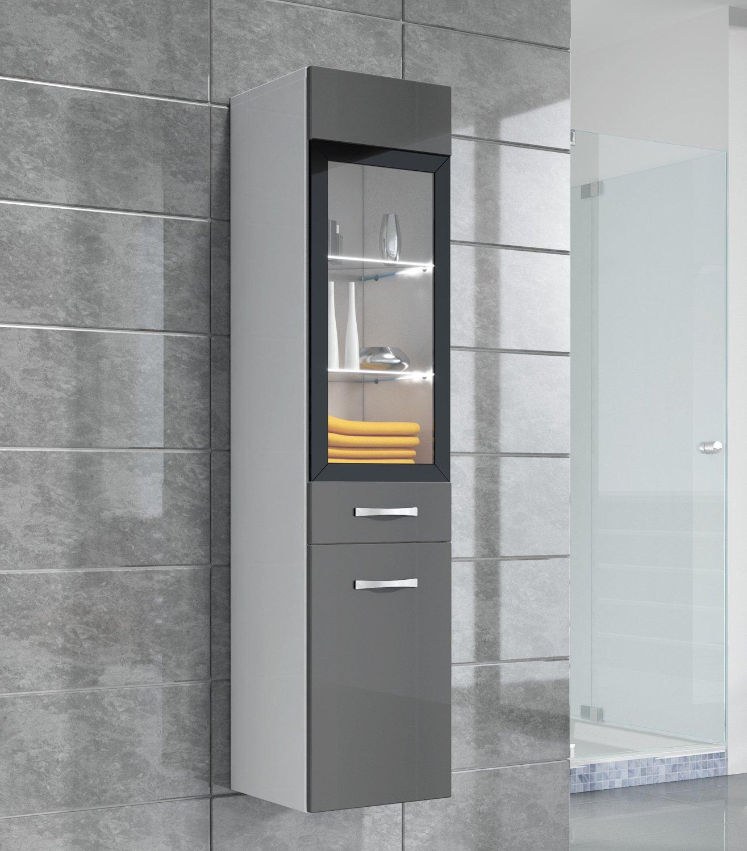 Mobiletto Rio 131 cm altezza grigio lucido - Mobiletto, armadietto ...