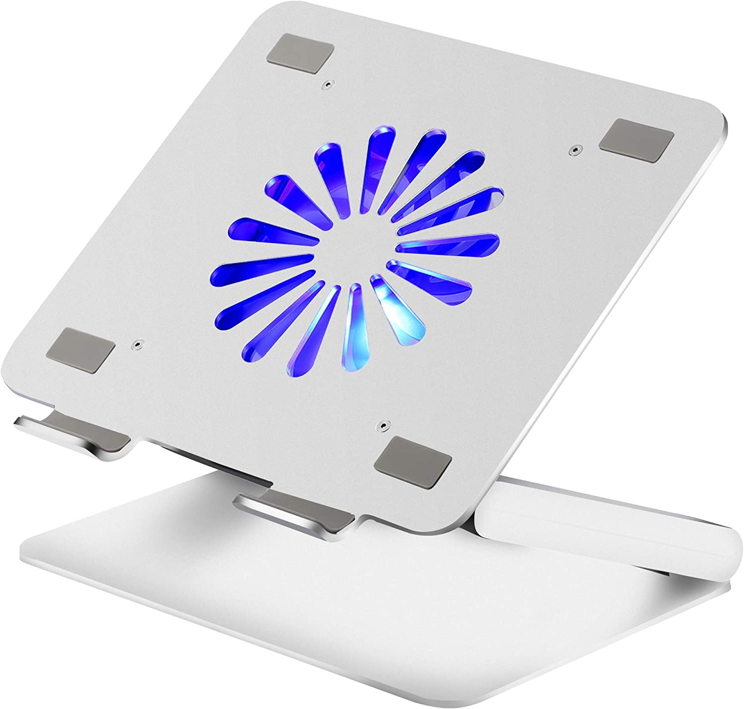 Soundance Laptop Stand for Desk Compatible with Apple Mac MacBook Pro Air 10 - 17.3 Inches Notebook, Multi Angle Adjustable Ergonomic Aluminum Riser Metal Holder with Cooling Fan USB Hub, N16