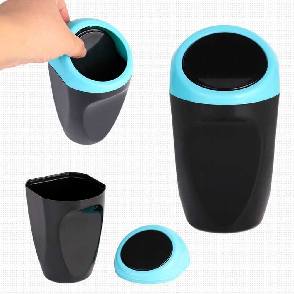 Black Washable Silicone Material Fit in Side Door Cup Holder for Receipts/,Gum Wrappers Storage AmFor Mini Car Trash Can with Lid Black Washable Silicone Material Fit in Side Door Cup Holder for Receipts,Gum Wrappers Storage