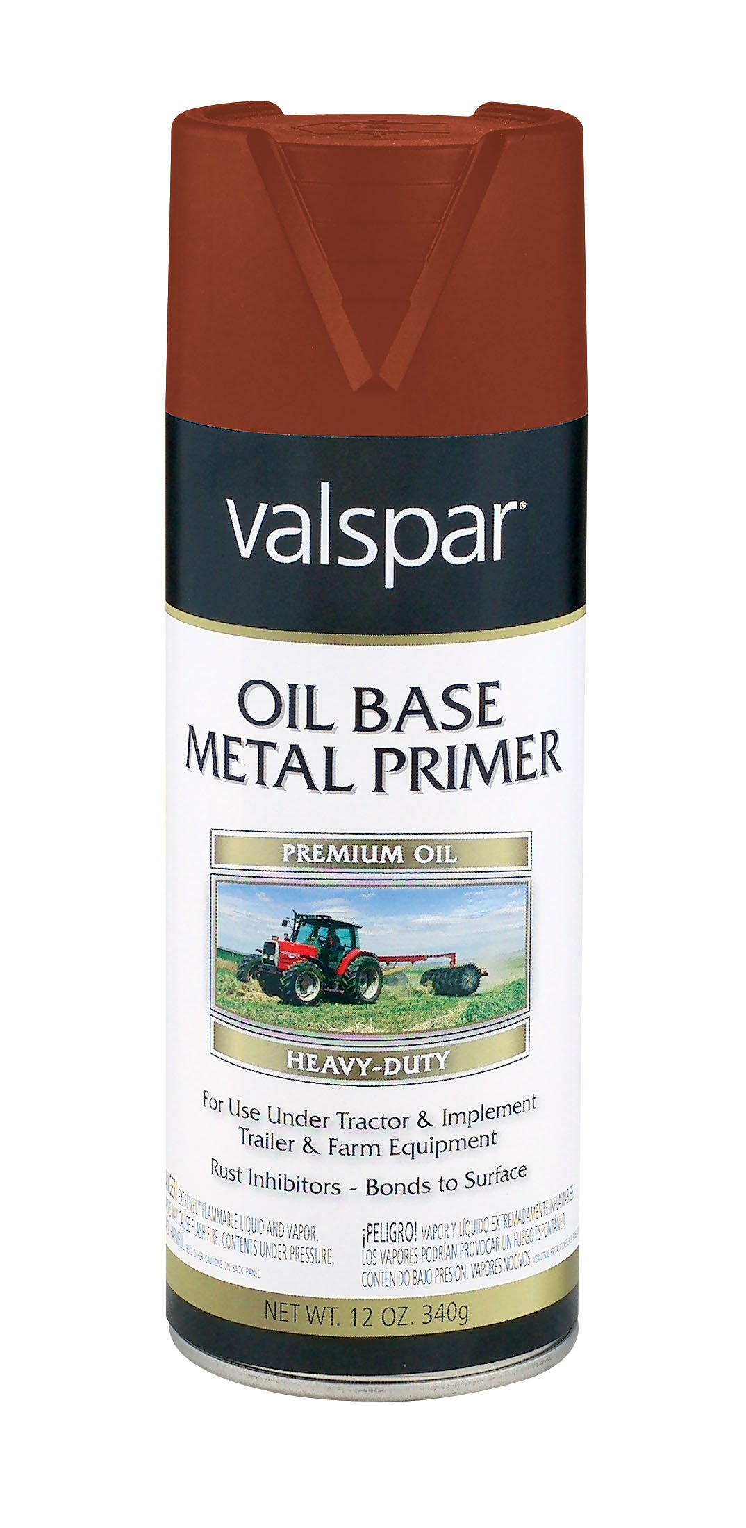 Valspar 5339-23 Red Oxide Metallic Tractor and Implement Spray Primer - 12 oz.
