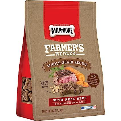 Milk-Bone FarmerS Medley Whole Grain Dog Treats With Real Beef, 12-Ounce