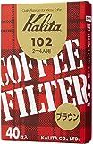 カリタ コーヒーフィルター 102濾紙 箱入り 2~4人用 40枚入り ブラウン #13143