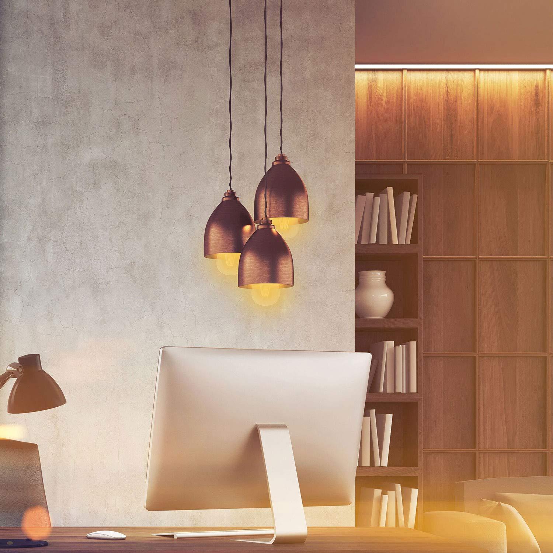 8W LED Edison Bulb 760 Lumens 2-Pack 3000K Amber Warm KINUR Antique Vintage Edison Light Bulbs E26//E27 Base Edison Lights Replacement Bulbs for Home Light Fixtures and Decorative