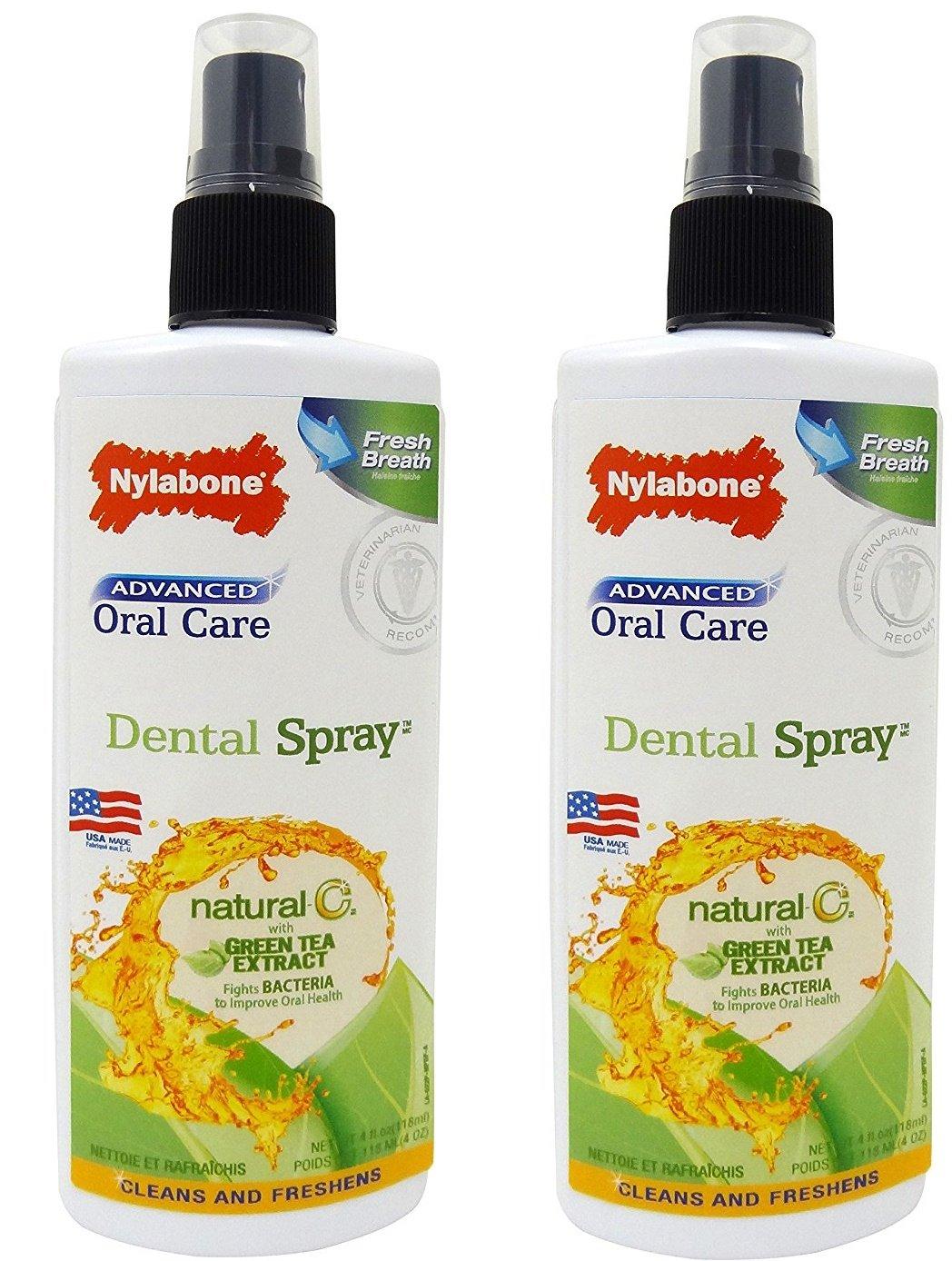 (2 Pack) Nylabone Advanced Oral Care Natural Dog Fresh Spray, 4 Ounce