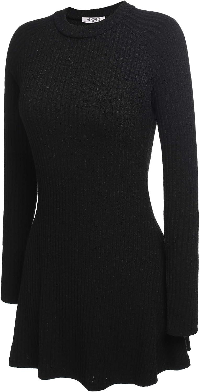 etuoji O-Neck Knit Stretchable Elasticity Long Sleeve Slim Sweater Jumper