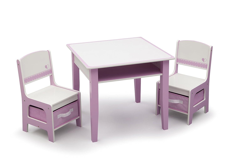 Amazon.com Delta Children Jack u0026 Jill Storage Table u0026 Chair Set Pink/White Baby  sc 1 st  Amazon.com & Amazon.com: Delta Children Jack u0026 Jill Storage Table u0026 Chair Set ...