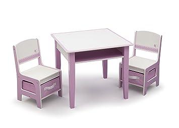 Delta Children Jack U0026 Jill Storage Table U0026 Chair Set, Pink/White
