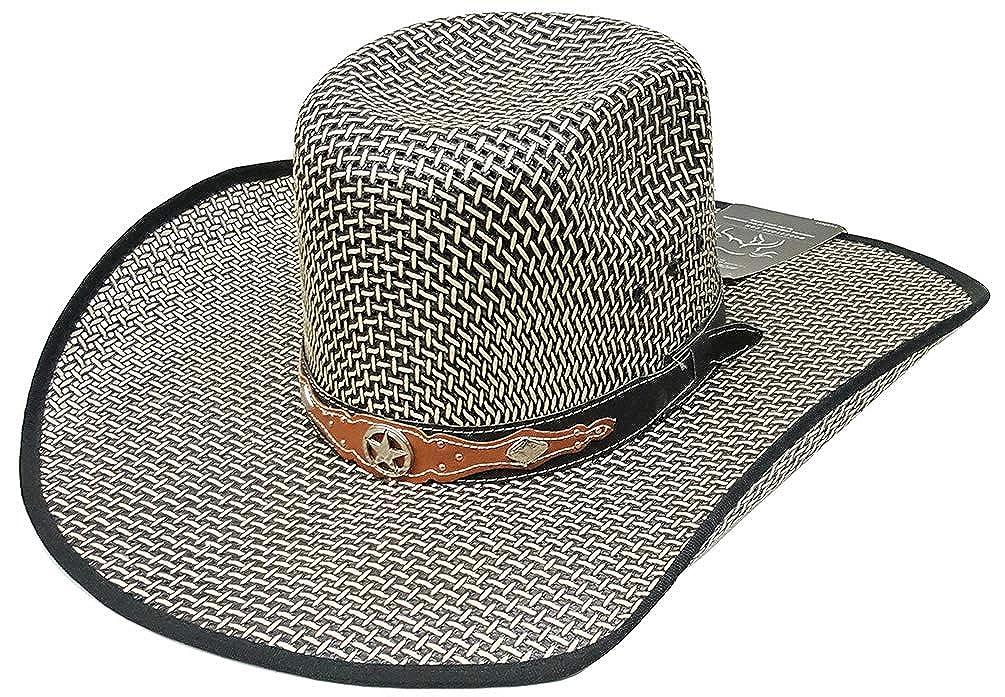 e1f47f119e56a Modestone Traditional Bangora Rodeo Straw Cowboy Hat Green  Amazon.co.uk   Clothing