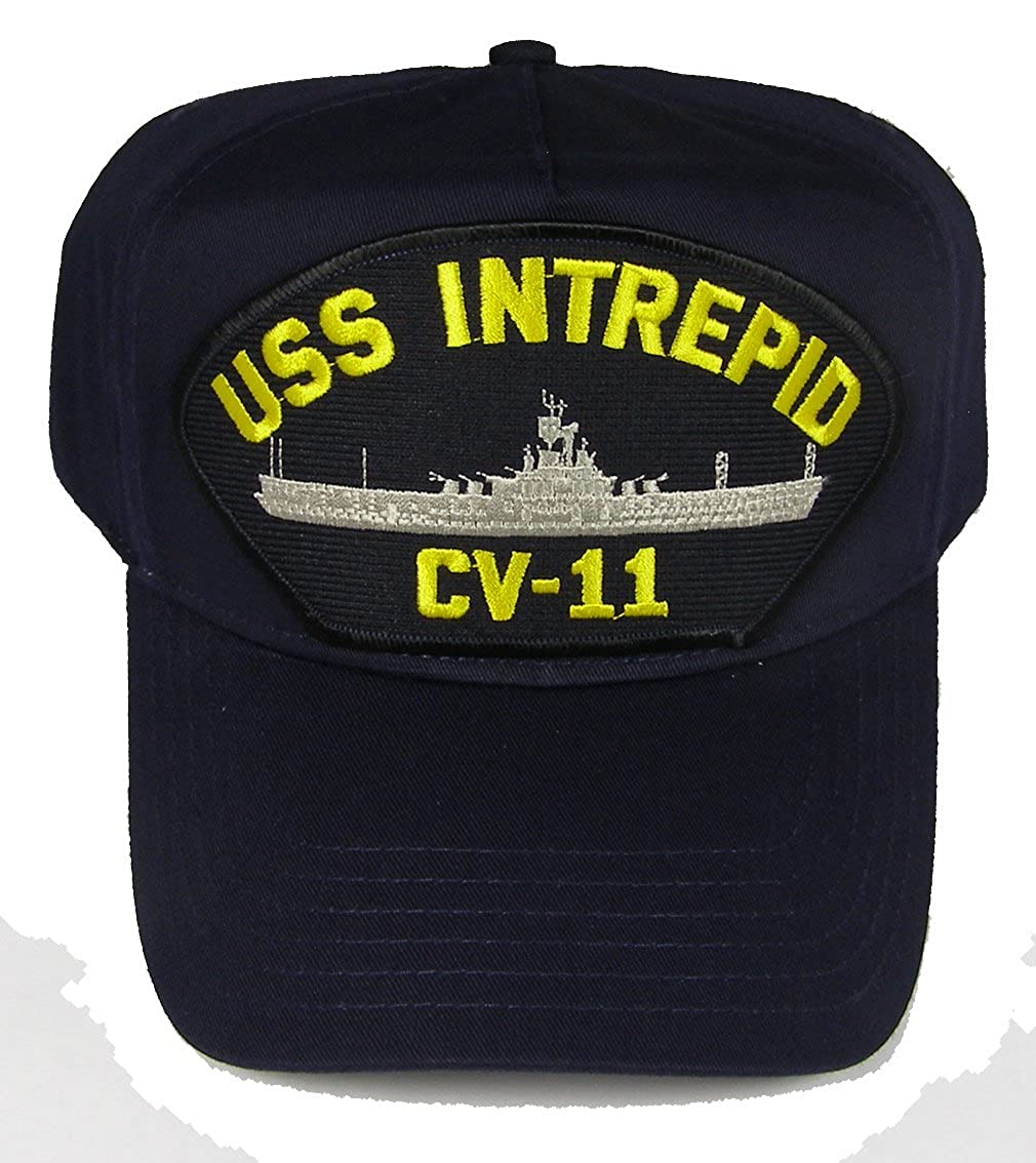 a7a215004ef Amazon.com  USS INTREPID CV-11 HAT - Navy Blue - Veteran Owned Business   Clothing