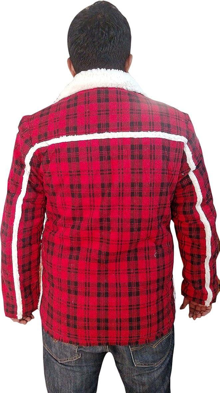 Bestzo Mens Fashion Dead Pool Ryan Reynolds Shear ling Red Jacket//Coat