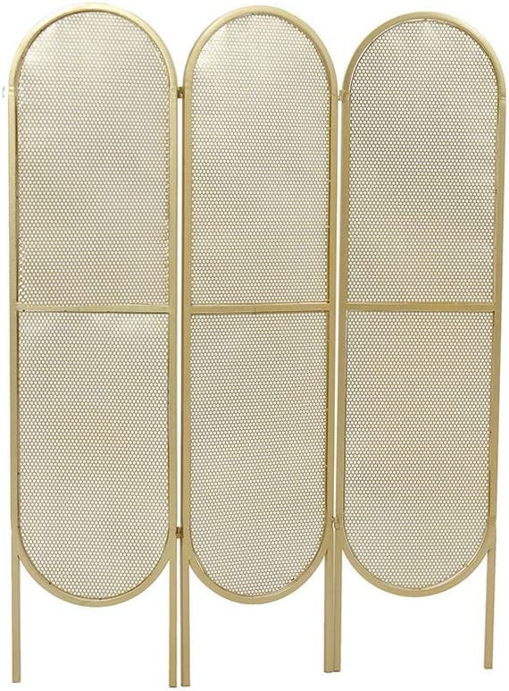 Room Screen Even Pantalla de privacidad Plegable de partición de 3 Paneles para Oficina en el hogar, Divisor de habitación, Pantalla de Panel de Malla metálica Independiente: Amazon.es: Hogar