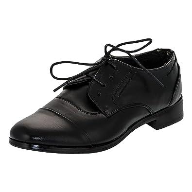 f1ce580a17d5c2 Festliche Kinder Anzug Schuhe mit Einer Innensohle Aus Echtem Leder M338sw  Schwarz Gr.32