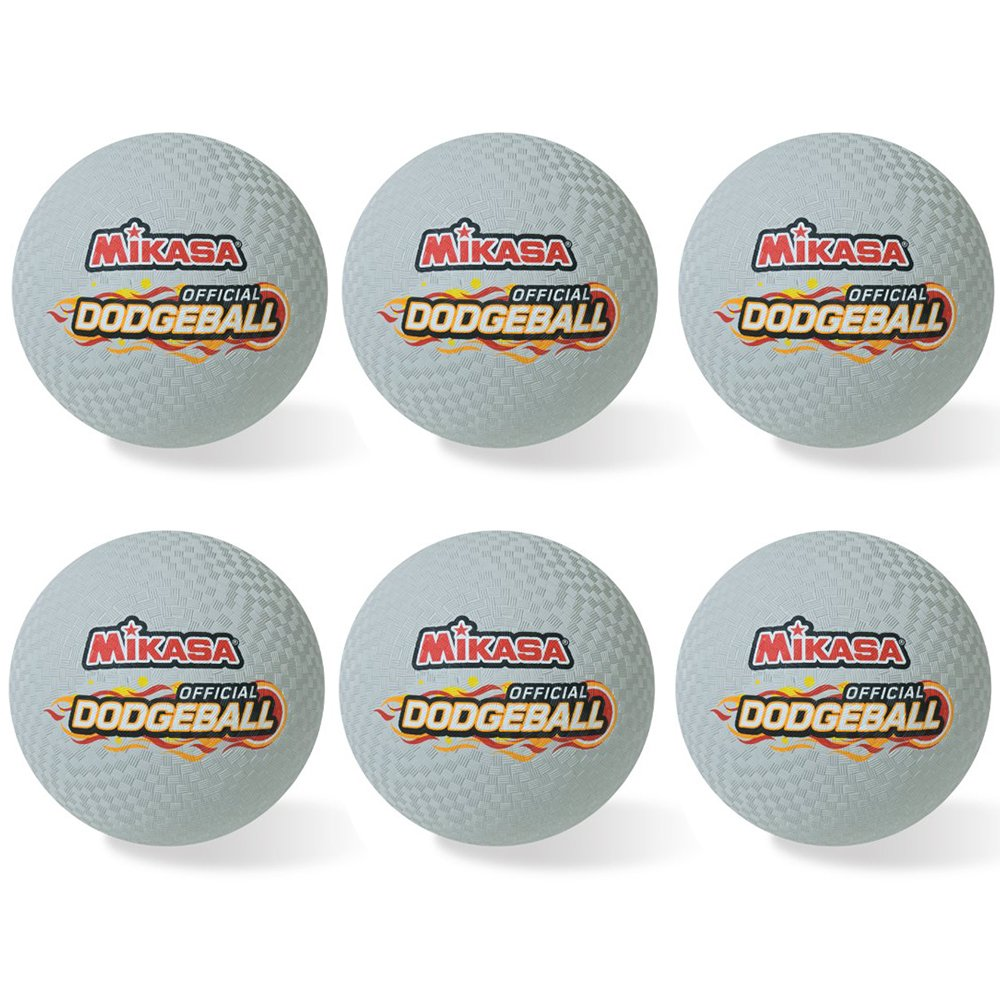 Mikasa Official 8.5'' Rubber Dodgeball Set of Six by MIKASA