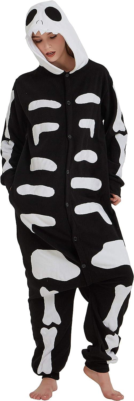 FunnyCos Pijama de animal para adultos, unisex, disfraz de Halloween para mujeres, hombres y adolescentes