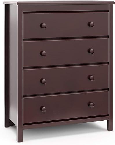 Storkcaft Alpine 4 Drawer Dresser Espresso Stylish Storage Dresser Chest