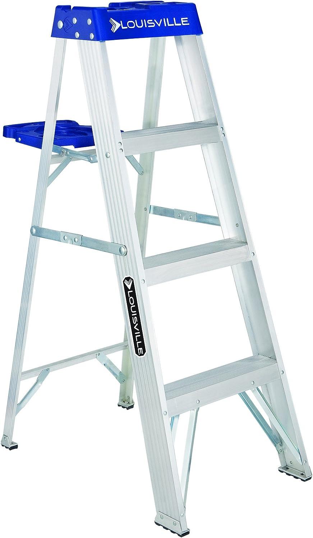 Louisville Ladder 4-Foot Aluminum Step Ladder, 250-Pound Capacity, AS2104