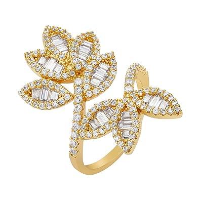 bd8df997d Amazon.com: shaze Hannah Gold Ring |Rings for Women Stylish|Ring for ...