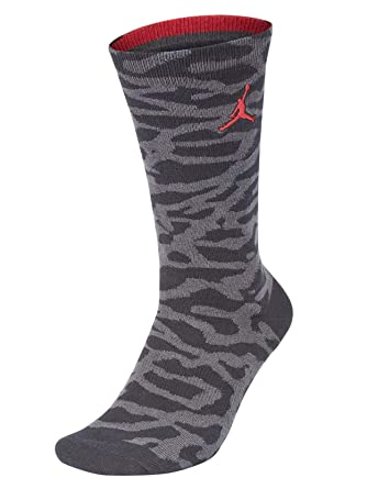 c52c2ec6c986 Nike Air Jordan Elephant Print Men s Crew Socks at Amazon Men s Clothing  store