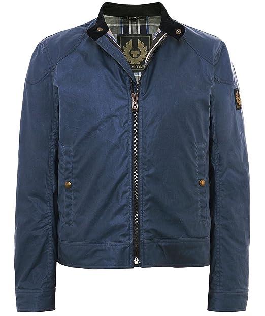 a6161d95d6b3a9 Belstaff Uomo giacca di cera cotone kelland Blu EU 52: Amazon.it:  Abbigliamento