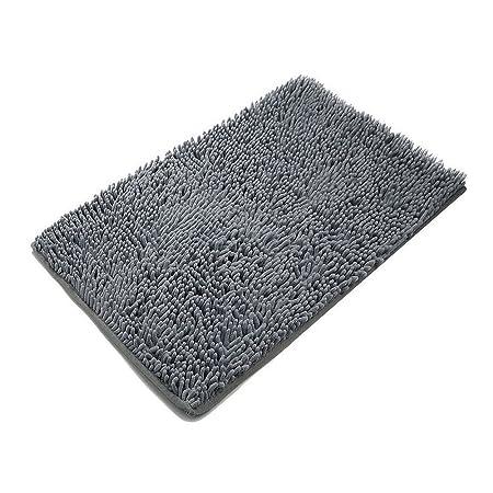 Superieur Bathroom Rugs,SKL Non Slip Absorbent Microfiber Shag Bath Mats Soft Shower  Rug (