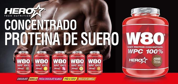 W80® - Concentrado de proteina de suero Sabor Rollo de canela ...