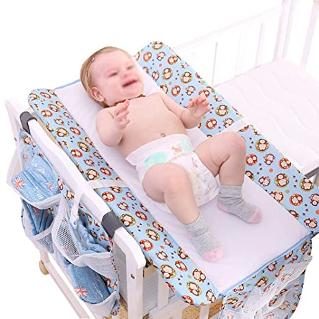 sxtylqq Mesa de pañales para Cuna de bebé Mesa de Escritorio para ...