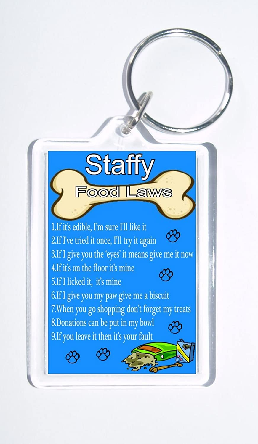 Ideal Present//Gift Beagle Rules /'It/'s Mine!/' Novelty Dog Owners Keyring